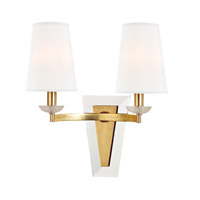 Hudson Valley Lighting Nelson 2 Light Wall Sconce in Aged Brass 7442-AGB-WS