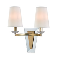 Hudson Valley Lighting Nelson 2 Light Wall Sconce in Aged Brass 7442-AGB