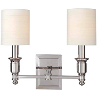 Hudson Valley Lighting Whitney 2 Light Wall Sconce in Polished Nickel 7502-PN