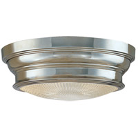 Hudson Valley Lighting Woodstock 1 Light Flush Mount in Polished Nickel 7509-PN