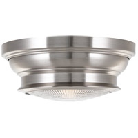 Woodstock 1 Light 9 inch Satin Nickel Flush Mount Ceiling Light