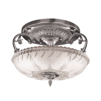 Hudson Valley Lighting Americana 3 Light Semi Flush in Satin Pewter 751-SP