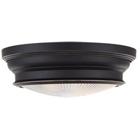 Woodstock 2 Light 13 inch Old Bronze Flush Mount Ceiling Light
