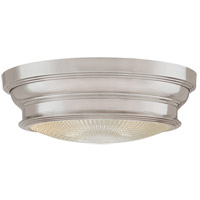 Woodstock 2 Light 13 inch Satin Nickel Flush Mount Ceiling Light