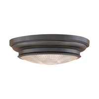 Woodstock 3 Light 20 inch Old Bronze Flush Mount Ceiling Light
