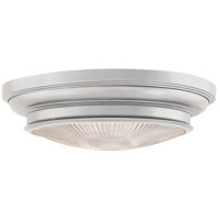 Woodstock 3 Light 20 inch Satin Nickel Flush Mount Ceiling Light