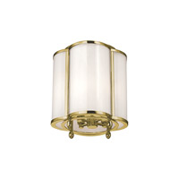 Hudson Valley Lighting Berkshire 4 Light Semi Flush in Aged Brass 7600-AGB