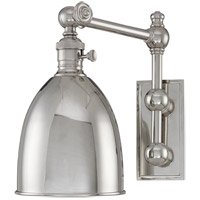 Hudson Valley Lighting Roslyn 1 Light Wall Sconce in Polished Nickel 761-PN