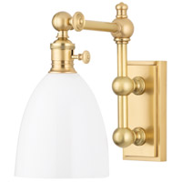 Hudson Valley Lighting Monroe 1 Light Wall Sconce in Aged Brass 762-AGB
