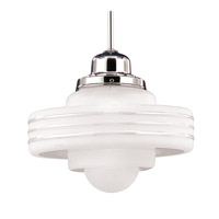 Hudson Valley Lighting Diner 1 Light Pendant in Polished Chrome 7620-PC