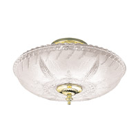 Hudson Valley Lighting Americana 3 Light Semi Flush in Polished Brass 764-PB
