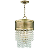 Harrison 4 Light 12 inch Aged Brass Pendant Ceiling Light, Crystal Beads