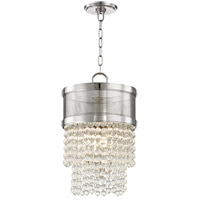 Hudson Valley 7704-PN Harrison 4 Light 12 inch Polished Nickel Pendant Ceiling Light Crystal Beads