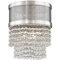Harrison 4 Light 12 inch Polished Nickel Flush Mount Ceiling Light, Crystal Beads