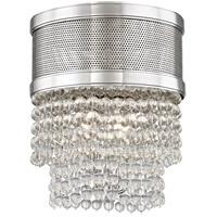 Hudson Valley 7704F-PN Harrison 4 Light 12 inch Polished Nickel Flush Mount Ceiling Light Crystal Beads
