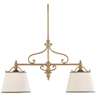 Hudson Valley 7712-AGB Orchard Park 2 Light 46 inch Aged Brass Island Light Ceiling Light