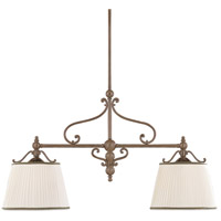 Orchard Park 2 Light 46 inch Historic Bronze Island Light Ceiling Light