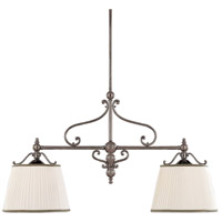 Hudson Valley Lighting Orchard Park 2 Light Island Light in Historic Nickel 7712-HN