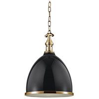 Hudson Valley 7714-BAGB Viceroy 1 Light 13 inch Black / Aged Brass Pendant Ceiling Light