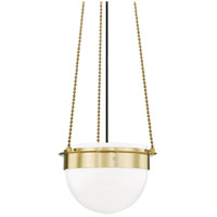 Hudson Valley 7715-AGB Silo 1 Light 15 inch Aged Brass Pendant Ceiling Light