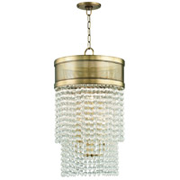 Harrison 8 Light 16 inch Aged Brass Pendant Ceiling Light, Crystal Beads