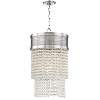 Harrison 8 Light 16 inch Polished Nickel Pendant Ceiling Light, Crystal Beads