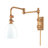 Hudson Valley Lighting Monroe 1 Light Wall Sconce in Aged Brass 772-AGB photo thumbnail