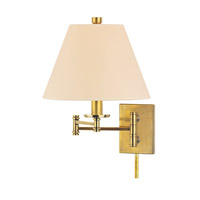 Hudson Valley Lighting Claremont Wall Sconce in Aged Brass 7721-AGB