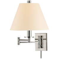 Claremont 1 Light 12 inch Polished Nickel Wall Sconce Wall Light in Eco Paper