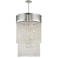 Hudson Valley 7722-PN Harrison 12 Light 22 inch Polished Nickel Pendant Ceiling Light Crystal Beads