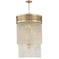 Hudson Valley 7722-AGB Harrison 12 Light 22 inch Aged Brass Pendant Ceiling Light Crystal Beads
