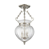 Hudson Valley 780-PN Gardner 3 Light 9 inch Polished Nickel Semi Flush Ceiling Light photo thumbnail