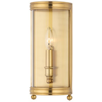 Hudson Valley 7801-AGB Larchmont 1 Light 6 inch Aged Brass Wall Sconce Wall Light photo thumbnail