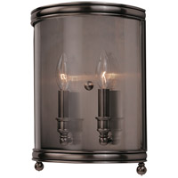 Larchmont 2 Light 9 inch Historic Nickel Wall Sconce Wall Light