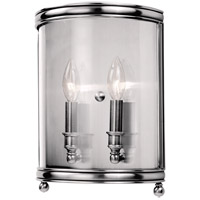 Hudson Valley 7802-PN Larchmont 2 Light 9 inch Polished Nickel Wall Sconce Wall Light