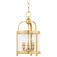 Hudson Valley 7809-AGB Larchmont 3 Light 9 inch Aged Brass Pendant Ceiling Light