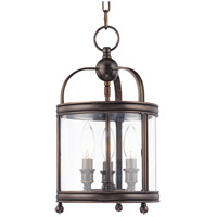 Hudson Valley Lighting Larchmont 3 Light Pendant in Distressed Bronze 7809-DB