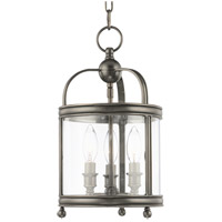 Hudson Valley 7809-HN Larchmont 3 Light 9 inch Historic Nickel Pendant Ceiling Light