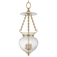 Gardner 3 Light 9 inch Aged Brass Pendant Ceiling Light
