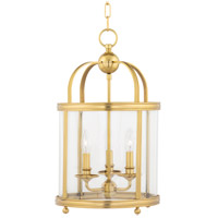 Hudson Valley 7812-AGB Larchmont 3 Light 13 inch Aged Brass Pendant Ceiling Light