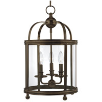 Larchmont 3 Light 13 inch Distressed Bronze Pendant Ceiling Light