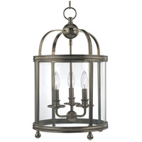 Larchmont 3 Light 13 inch Historic Nickel Pendant Ceiling Light