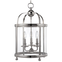 Hudson Valley 7812-PN Larchmont 3 Light 13 inch Polished Nickel Pendant Ceiling Light