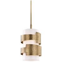 Hudson Valley 7813-AGB Lanford 1 Light 13 inch Aged Brass Pendant Ceiling Light