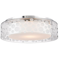 Carter LED 15 inch Satin Aluminum Semi-Flush Ceiling Light