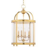 Hudson Valley 7816-AGB Larchmont 4 Light 17 inch Aged Brass Pendant Ceiling Light