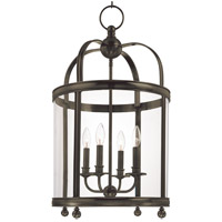 Larchmont 4 Light 17 inch Distressed Bronze Pendant Ceiling Light
