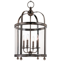 Hudson Valley 7816-HN Larchmont 4 Light 17 inch Historic Nickel Pendant Ceiling Light
