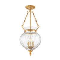 Hudson Valley Lighting Gardner 3 Light Semi Flush in Aged Brass 782-AGB