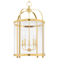 Hudson Valley 7820-AGB Larchmont 5 Light 38 inch Aged Brass Pendant Ceiling Light